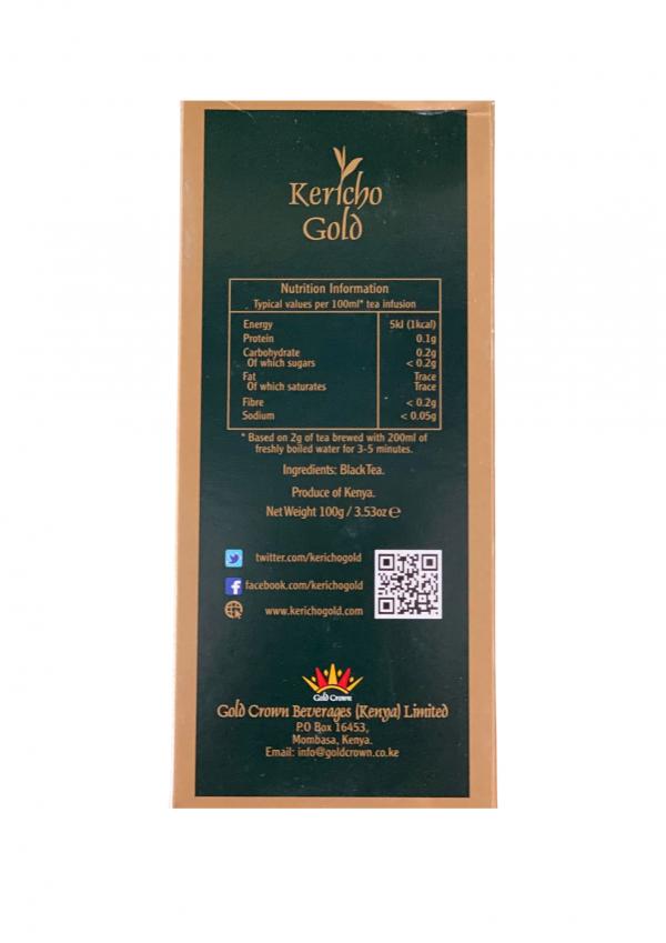 Kahawa & Treats - Kericho Gold Tea Back
